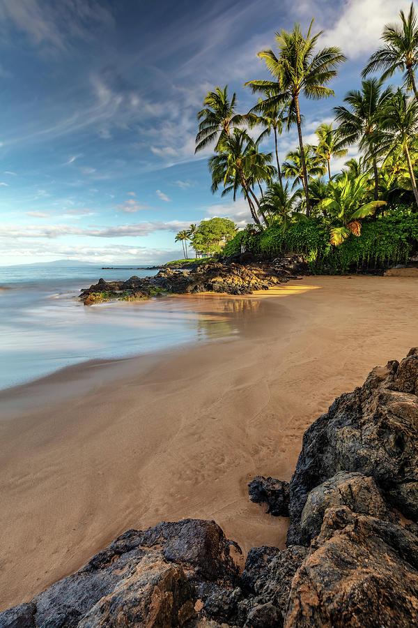 Early Morning Walk On A South Maui Beach Photograph
