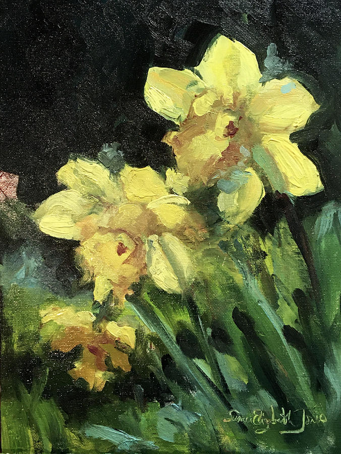 Early Spring Beauties Painting