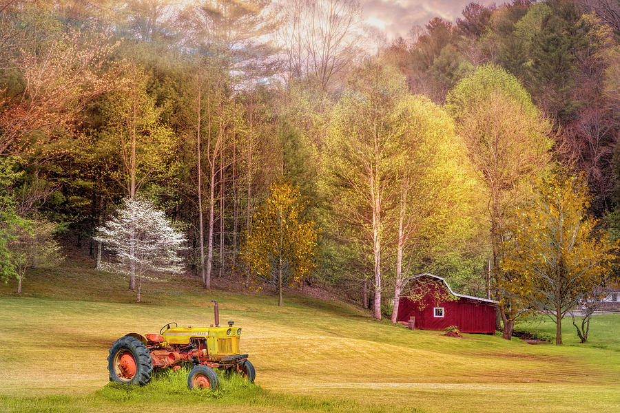 Early Spring Farm In Gold and Red Photograph by Debra and ...