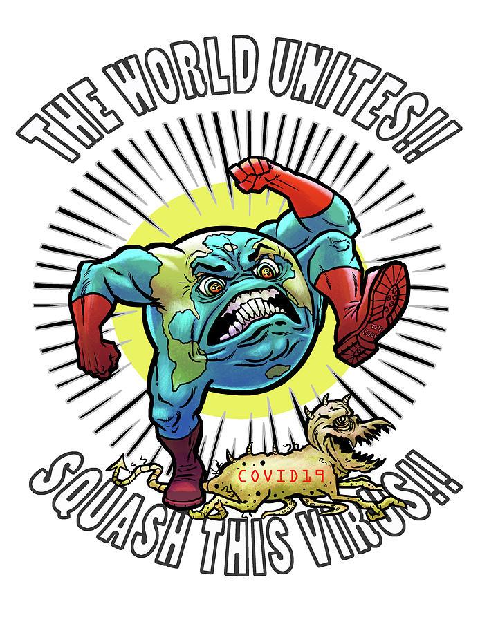 Corona Virus Digital Art - Earth vs Virus by Jonathan Buhl