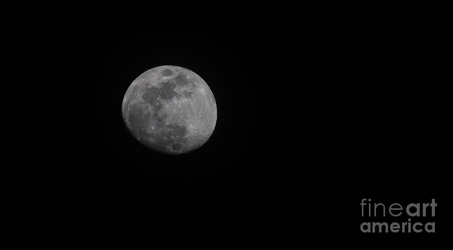 Earths Moon - Full Moon - 2018 Photograph