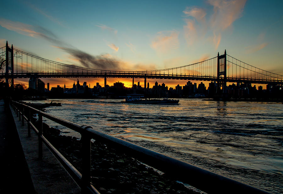 East River Sunset by Cate Franklyn