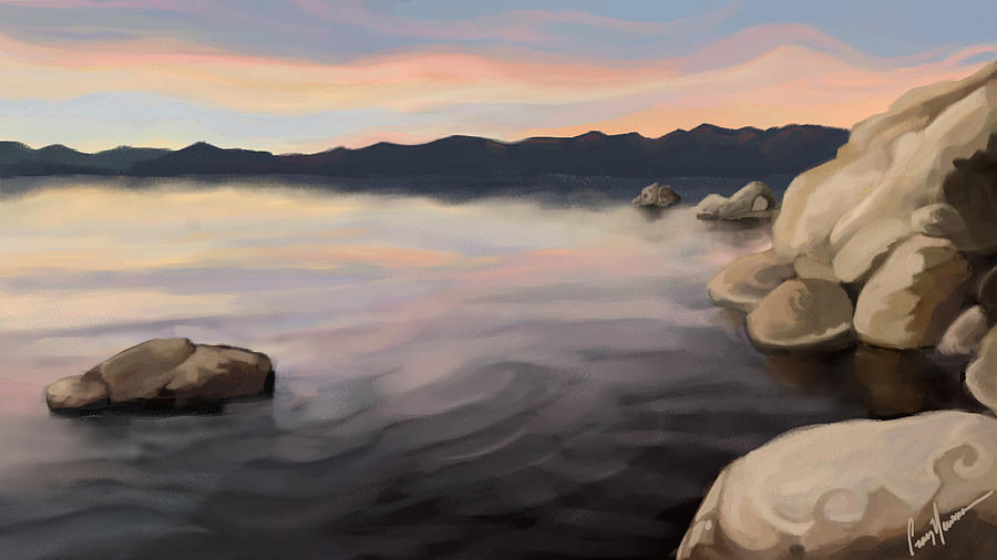 East Shore Painting - East Shore Sunset by Craig Newman