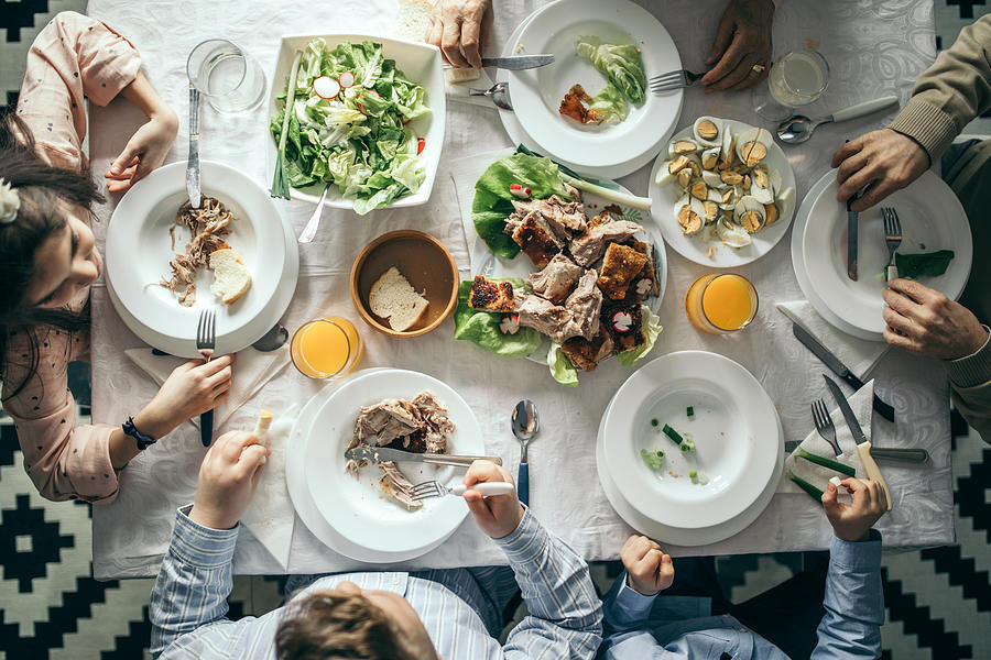Easter meal Photograph by Supersizer