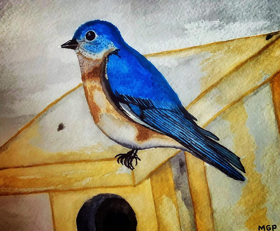Eastern Bluebird Painting By Michael Panno