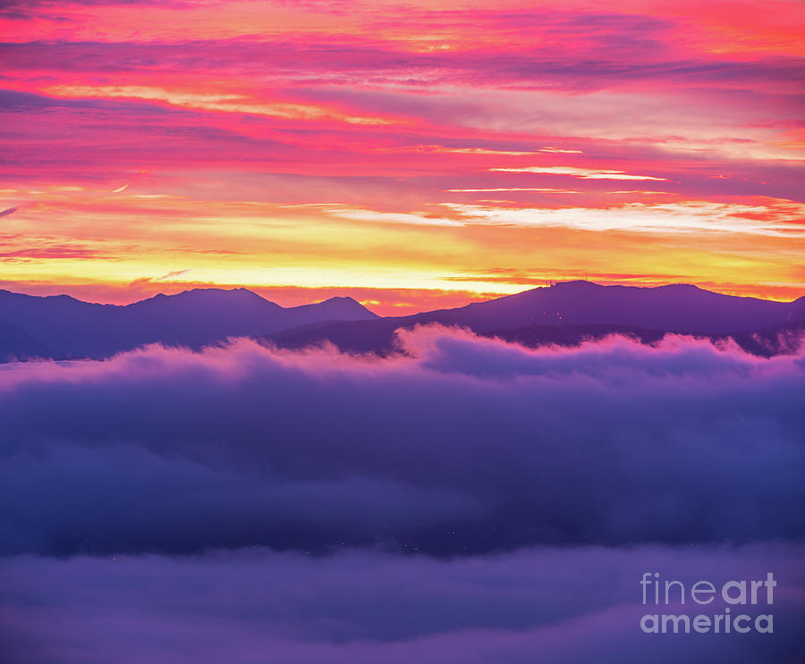 Eastside Sunrise Cloud Waves Photograph