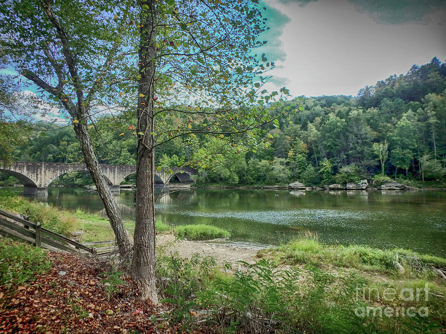 Easy Peaceful River by Judy Hall-Folde