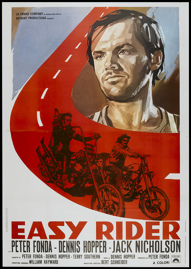 easy Rider, With Peter Fonda, 1969 Mixed Media
