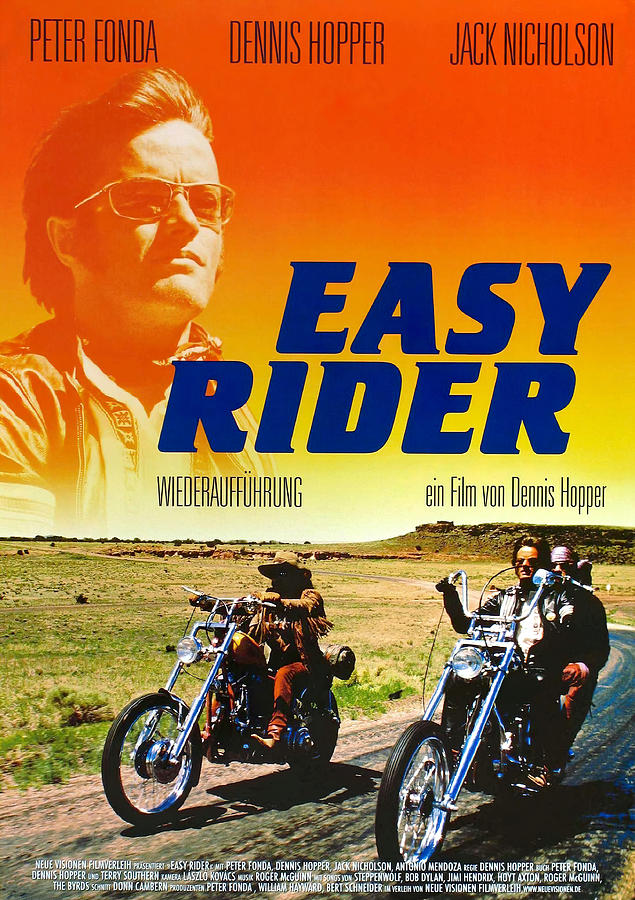 easy Rider, With Peter Fonda And Dennis Hopper, 1969 Mixed Media