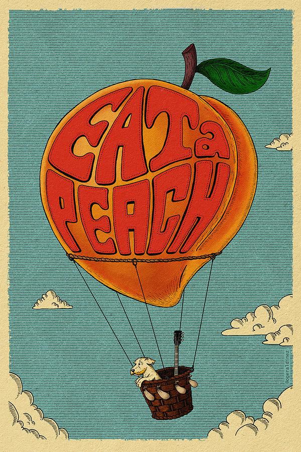 Allman Brothers Band Digital Art - Eat a Peach by Geraldo Bezerra