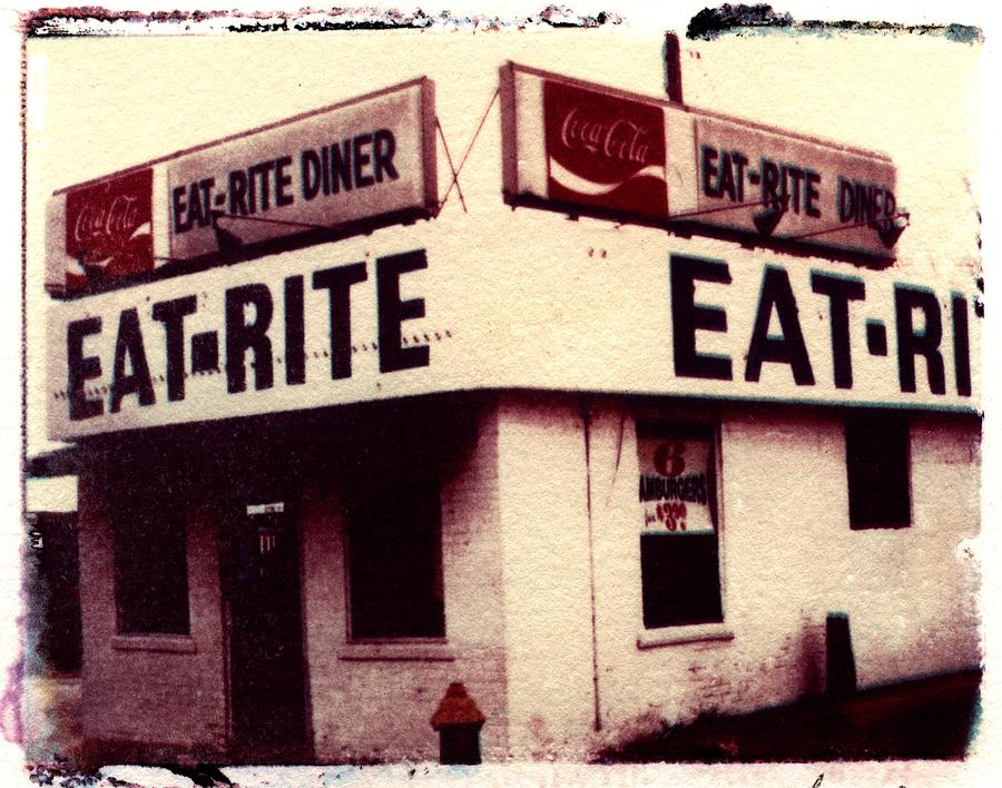 Polaroid Transfer Photograph - Eat Rite by Jane Linders