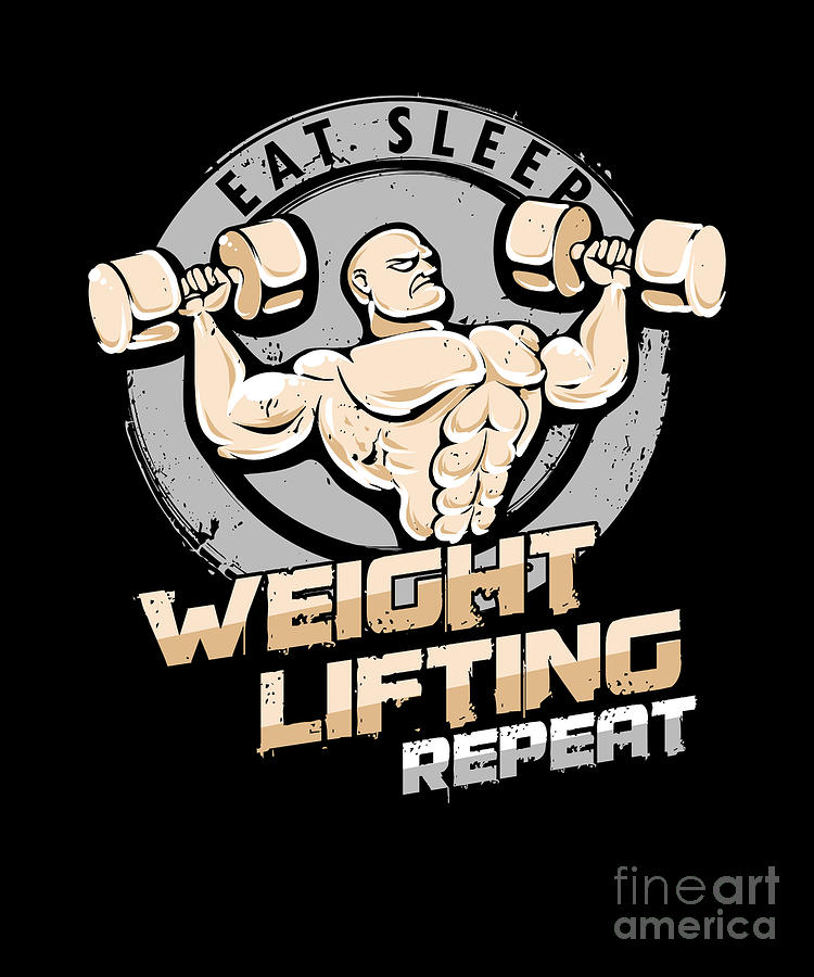 Eat Sleep Lift Repeat Body Building T Shirt Gift for Him Dad Birthday