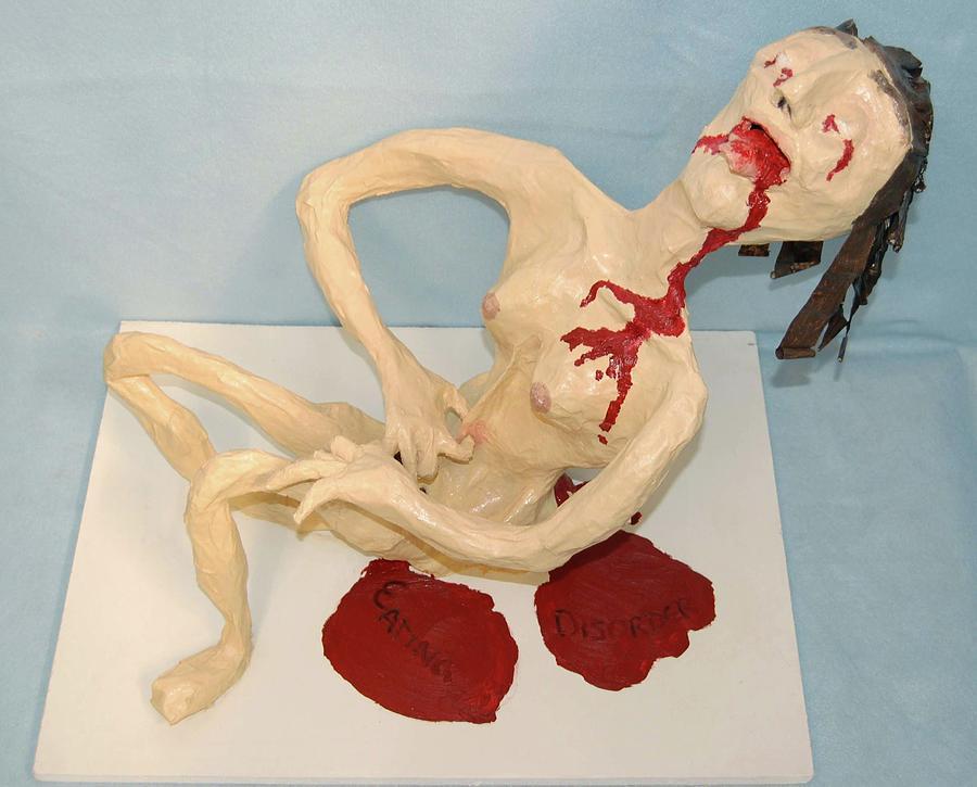 Illness Mixed Media - Eating Disorder by Charla Van Vlack