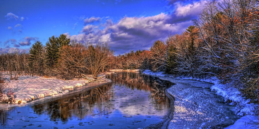 Eau Claire River Winter Reflection by Dale Kauzlaric