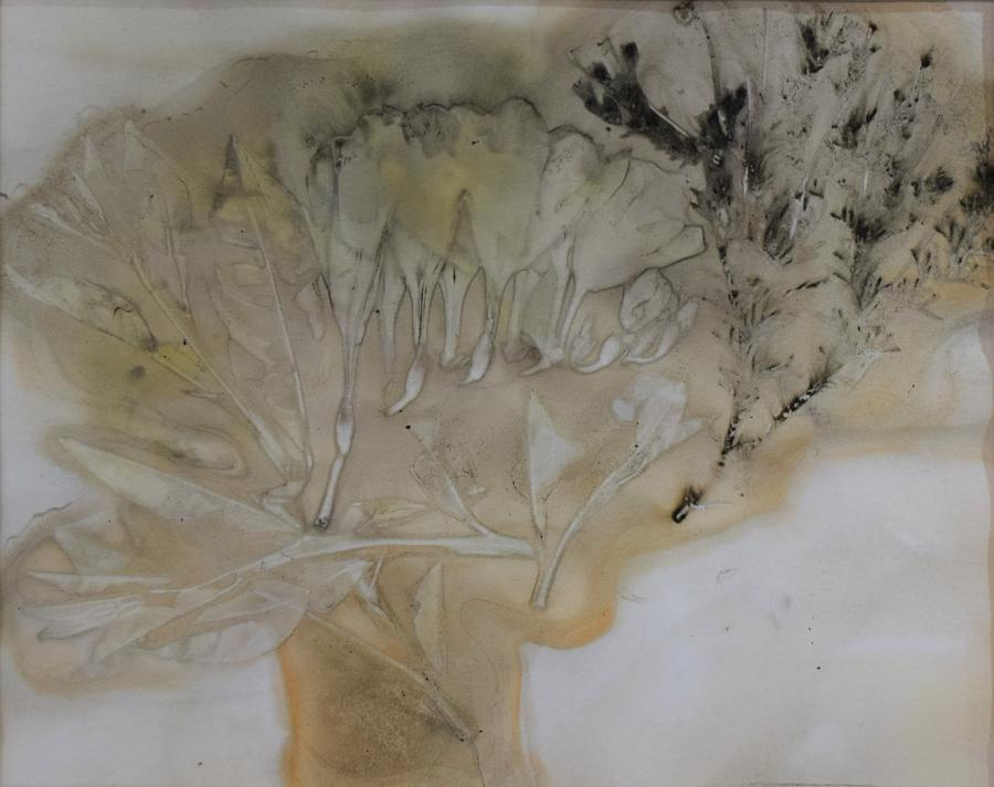 Nature Mixed Media - Eco print 2 by Charla Van Vlack