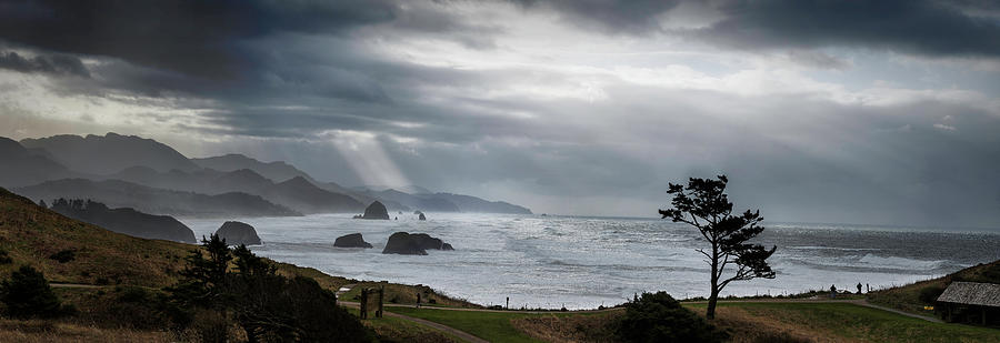 Ecola Park Storm by Wes and Dotty Weber