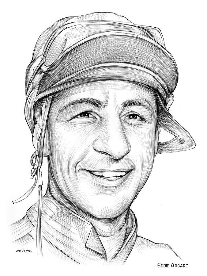 Eddie Arcaro Drawing