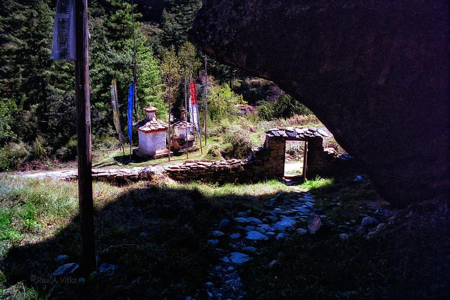 Bhutan Photograph - Edge of Light and Dark by Paul Vitko