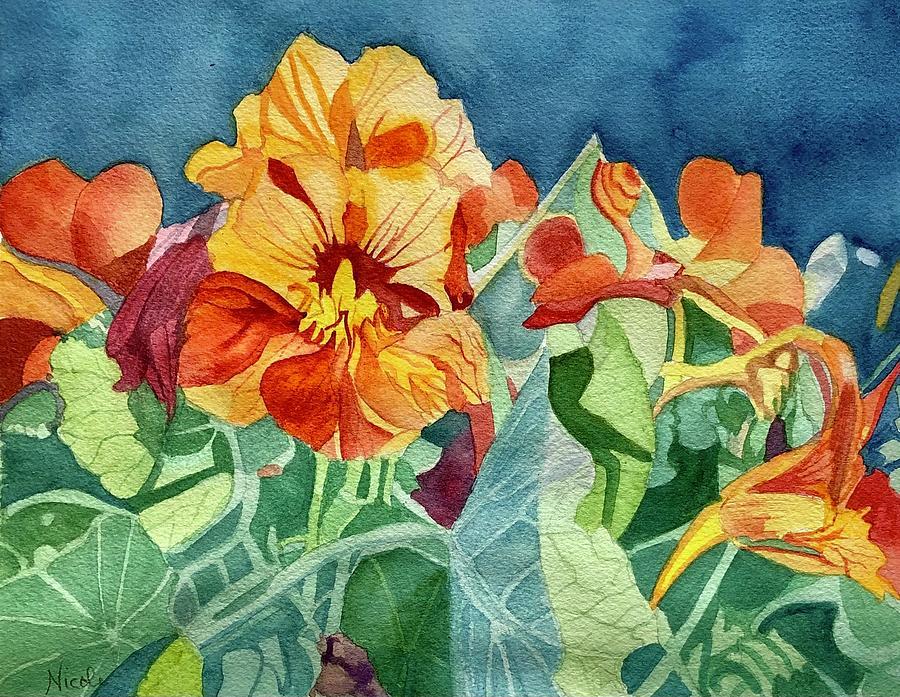 Edible Flowers Painting