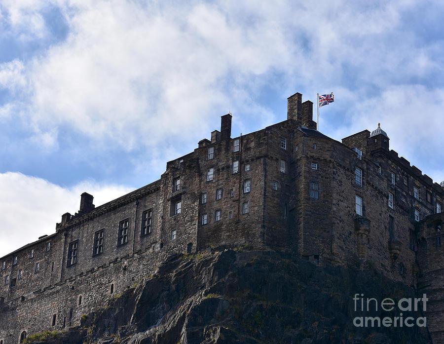 Edinburgh Castle - South View Detail, Scotland by Yvonne Johnstone