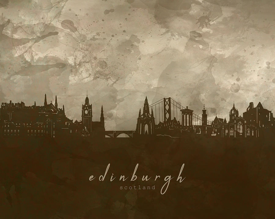 Edinburgh Skyline Panorama 4 Digital Art
