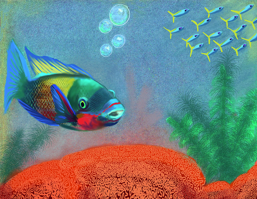 Edit Of Fish Only A Fine Day Digital Art