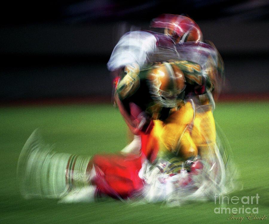 Edmonton Eskimos Football - Slo Mo Blake Marshall - 1989 Photograph