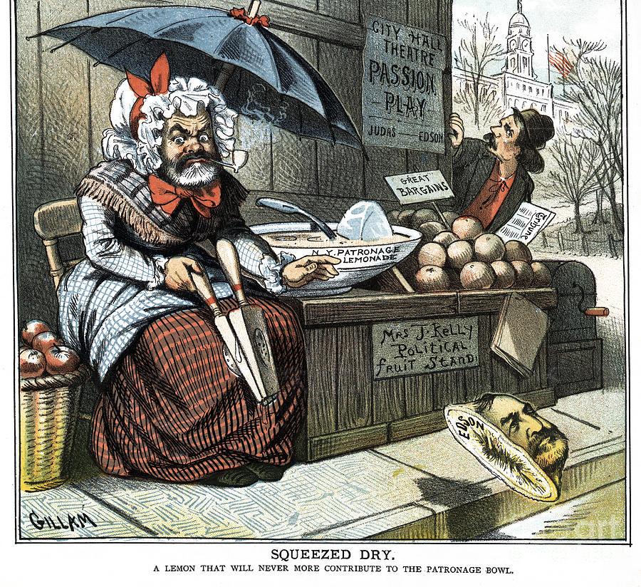 Edson Cartoon, 1884 by Bernhard Gillam