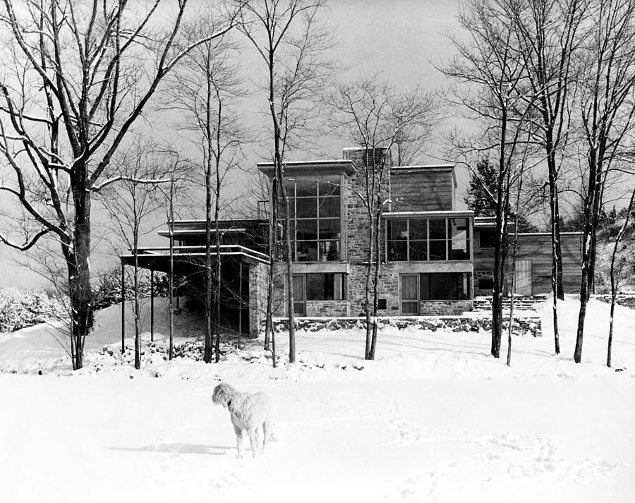 Edward Steichens Connecticut Home in the Snow Photograph by Edward Steichen