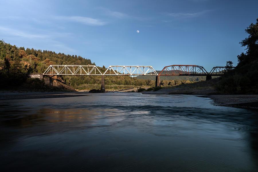 Eel River And Railroad Bridge Photograph