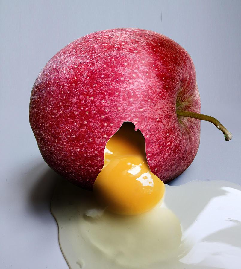 Egg And Apple For Fitness Digital Art