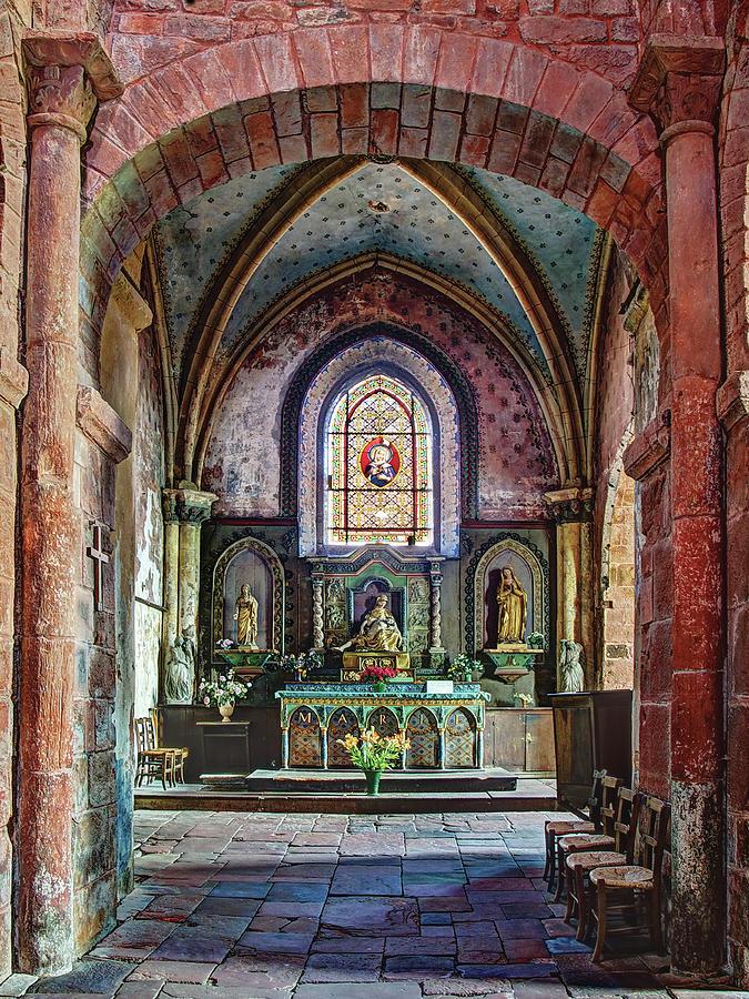 Collonges La Rouge Photograph - Eglise Saint-Pierre - Collonges-la-Rouge by Barry O Carroll