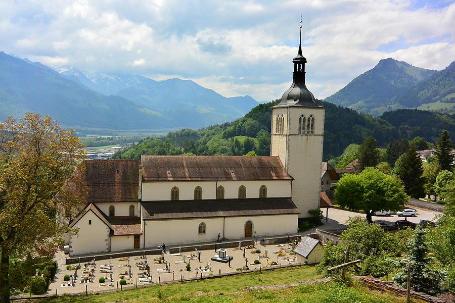 Church Photograph - Eglise Saint Theodule Church, Switzerland by Two Small Potatoes