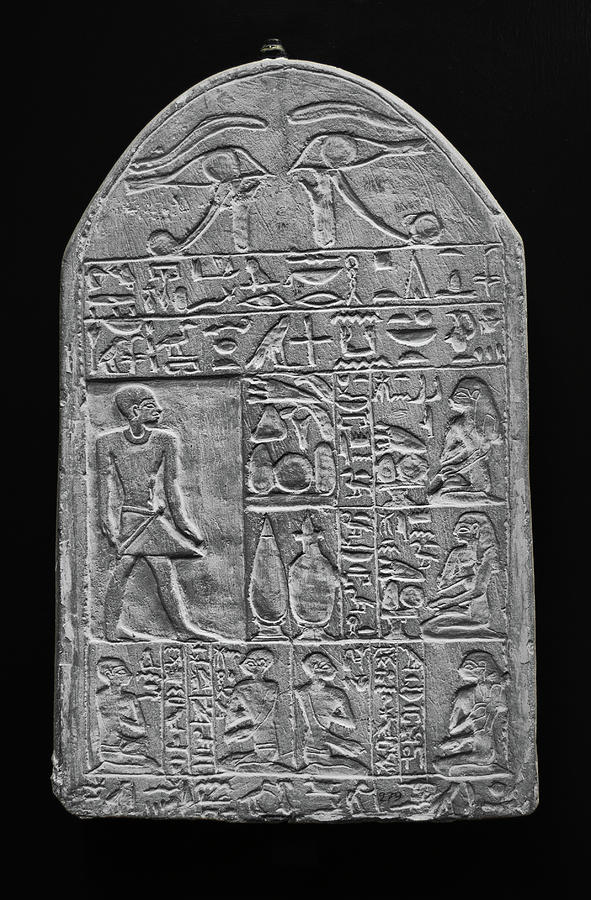 Egyptian Heiroglyphic Tablet Vatican Museums Rome Italy Black and White by Shawn O'Brien