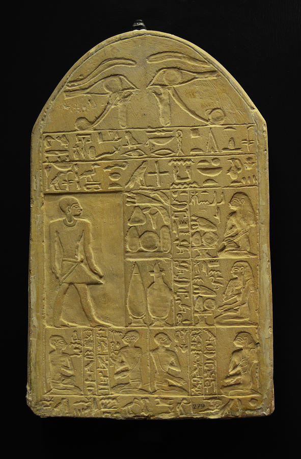 Egyptian Heiroglyphic Tablet Vatican Museums Rome Italy by Shawn O'Brien
