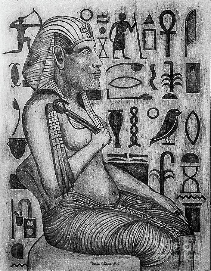 Egyptian Message Bw Photograph