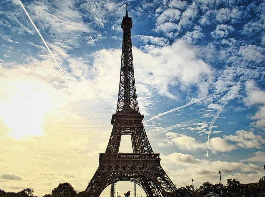 Eiffel Clouds by Portia Olaughlin