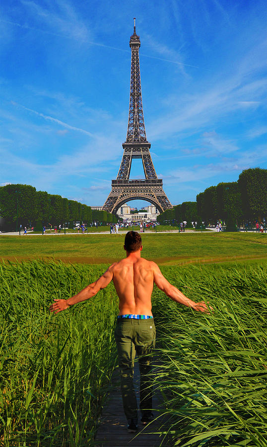 Eiffel Tower Paris France And Day Dreaming Surreal Digital Art