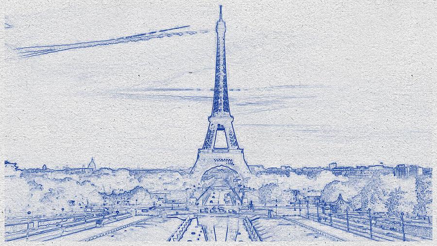 Eiffel Tower Travel Digital Art