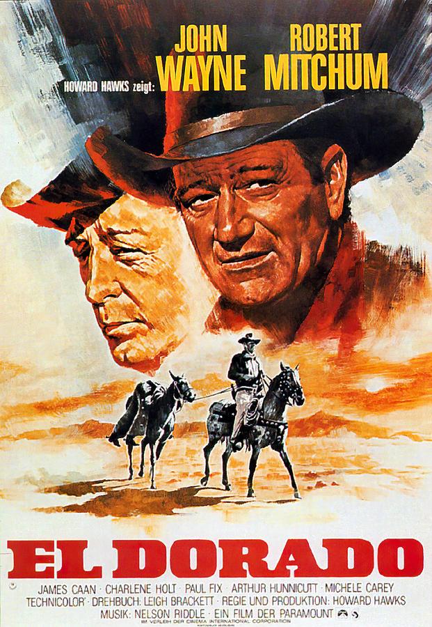 El Mixed Media - El Dorado, with John Wayne, 1967 by Stars on Art