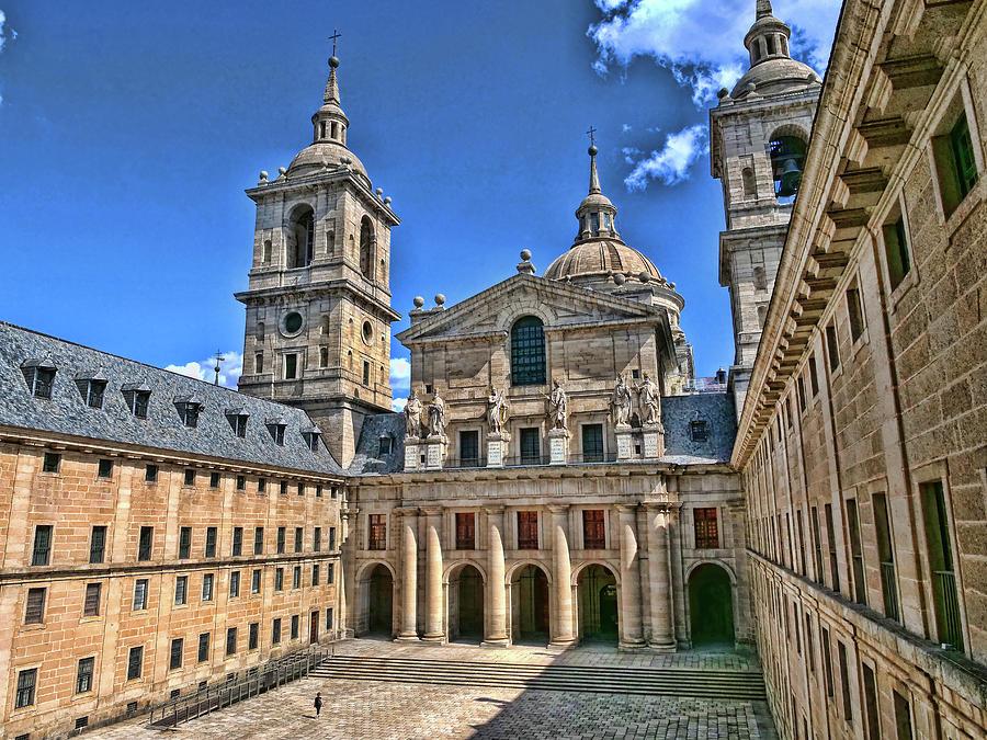 El Escorial Courtyard  2 - Madrid Photograph