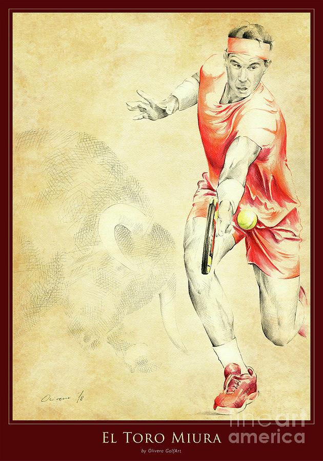 Golfer Painting - El Toro Miura - Poster by Olivera Cejovic