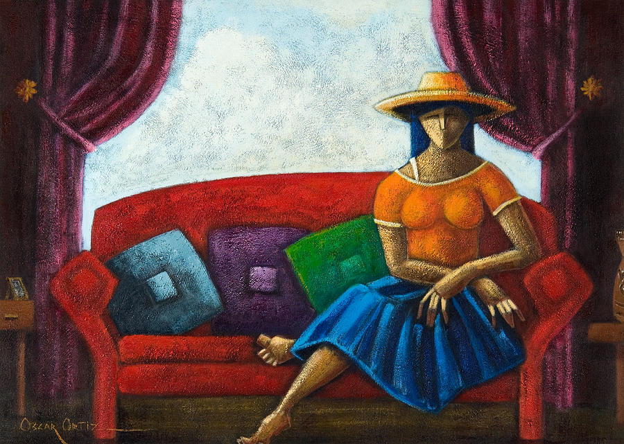 Puerto Rico Painting - El Ultimo Romance Del Verano by Oscar Ortiz