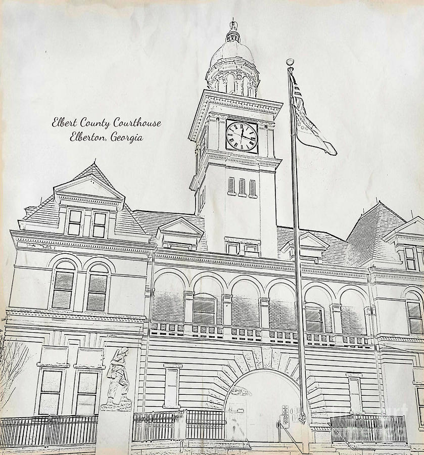 Elbert County Courthouse in Elberton Georgia by Tracy Ruckman