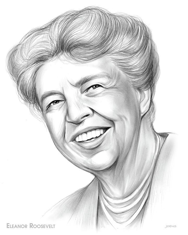 Eleanor Roosevelt - Pencil Drawing