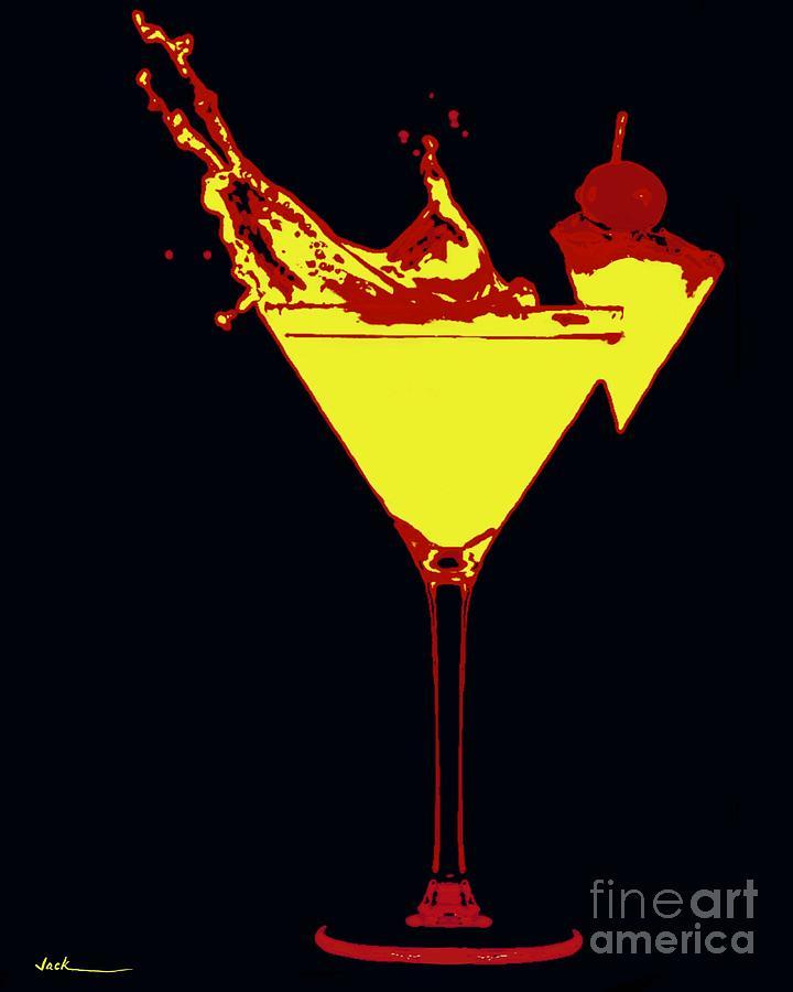 Drink Painting - Election Splash by Jack Bunds