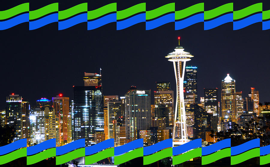 Electric Green Blue Seattle by Brian O'Kelly