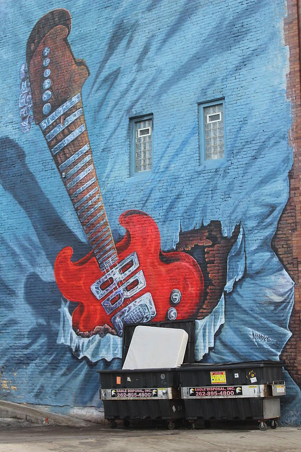 Electric Guitar Graffiti Art by Callen Harty