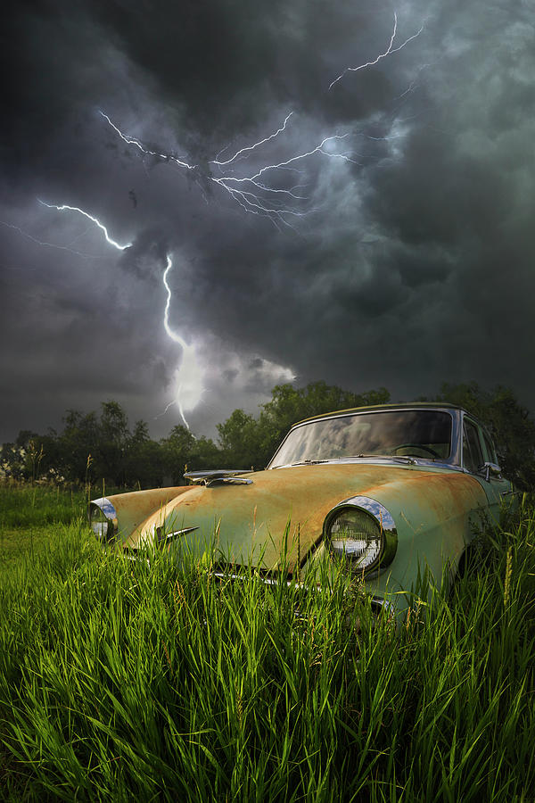 Lightning Photograph - Electric Stud  by Aaron J Groen