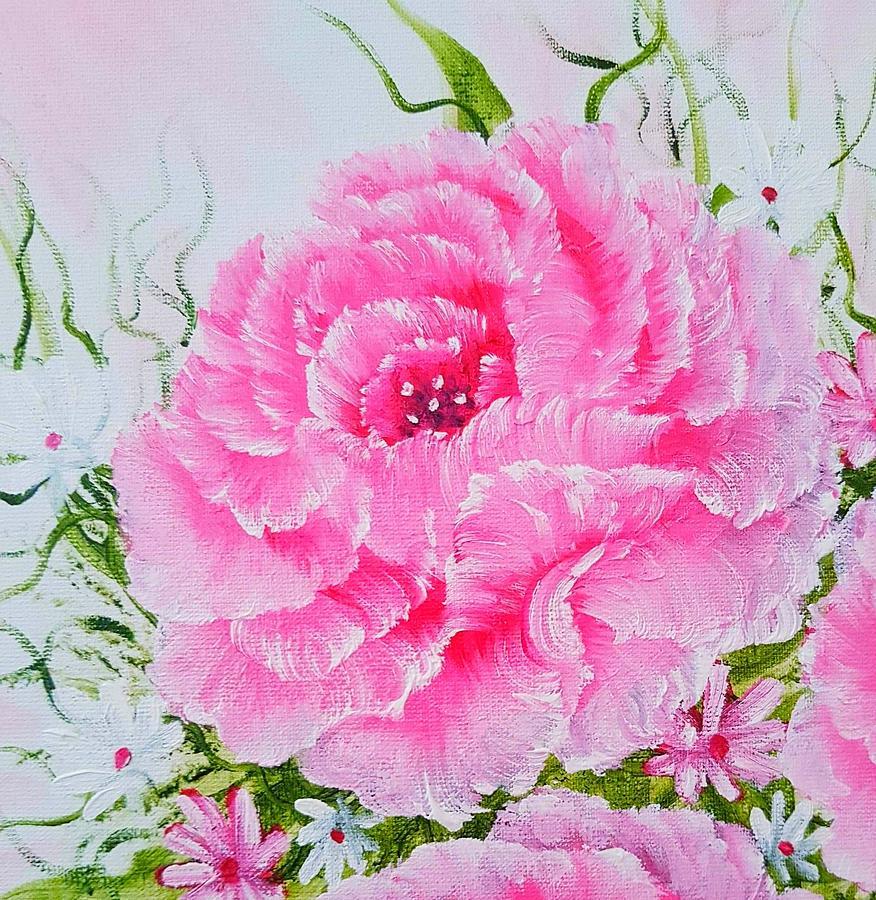 Elegant Rose Treasures Mini Special Pink Glow Painting